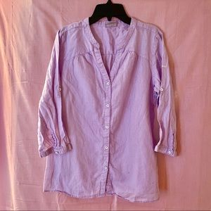 Columbia Medium Long Sleeve Button Down Blouse
